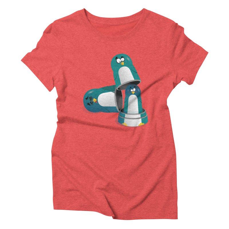 Penguin Dolls Women's Triblend T-Shirt by mud's Artist Shop