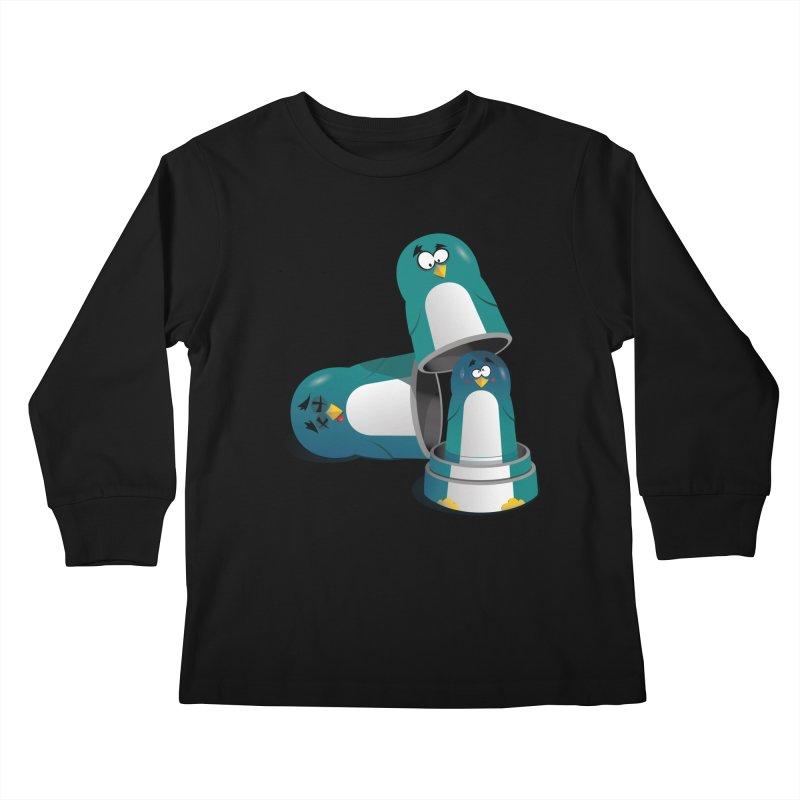 Penguin Dolls Kids Longsleeve T-Shirt by mud's Artist Shop