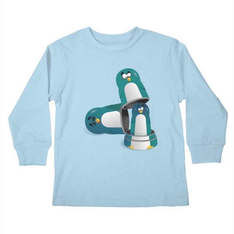 Penguin Dolls Kids Longsleeve T-Shirt by mud's Artist Shop