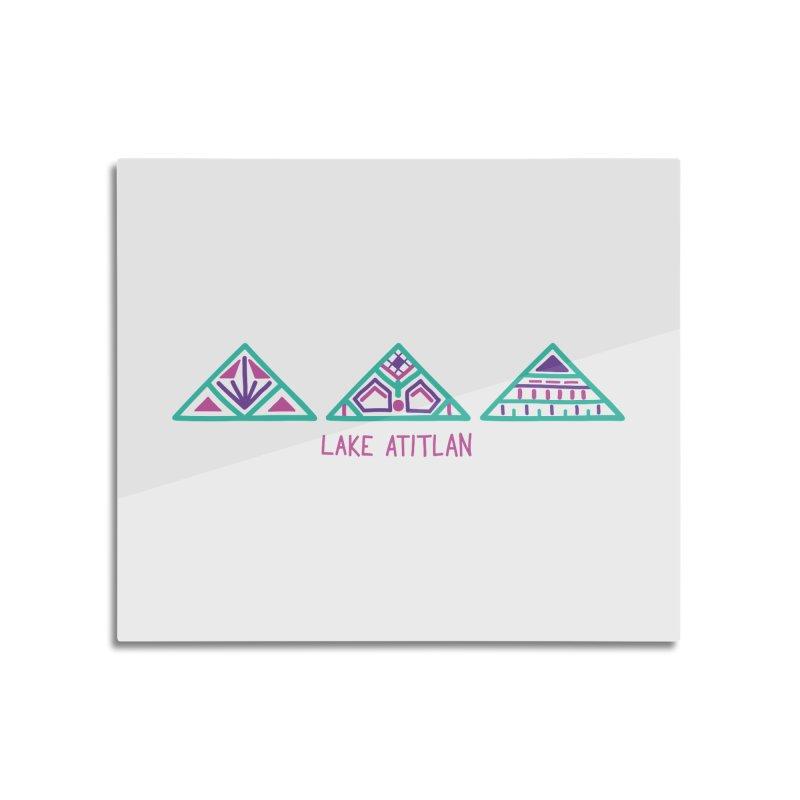 Lake Atitlan - Mint Home Mounted Acrylic Print by muddyum's artist shop