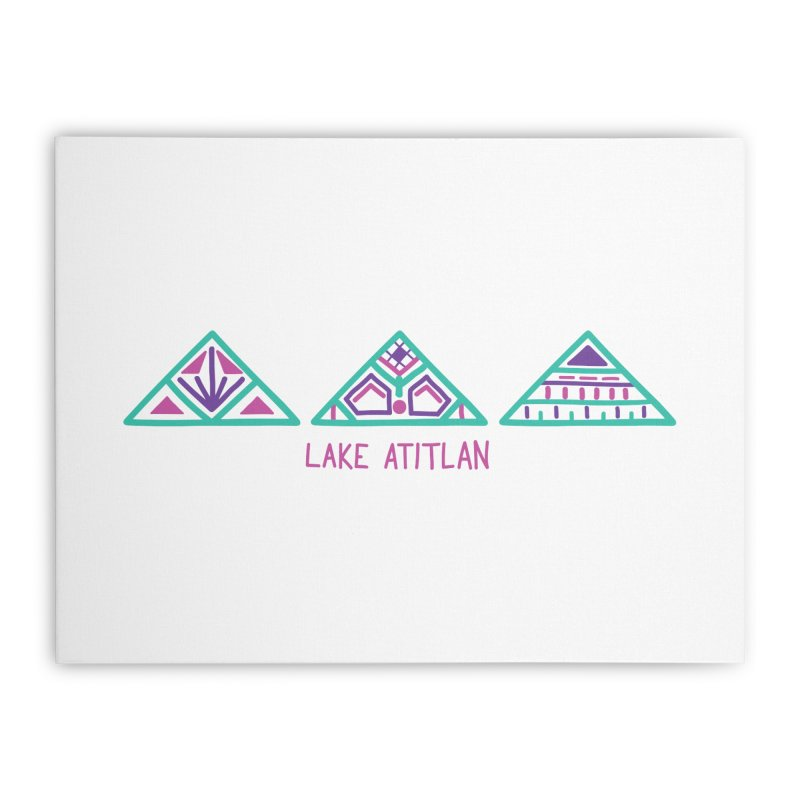 Lake Atitlan - Mint Home Stretched Canvas by muddyum's artist shop