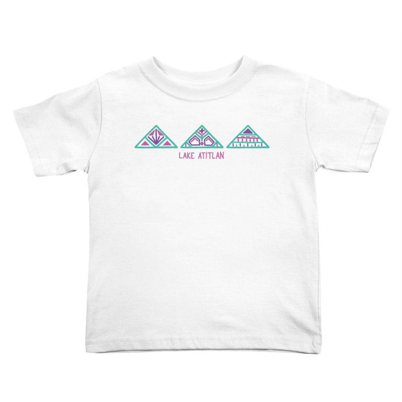 Lake Atitlan - Mint Kids Toddler T-Shirt by muddyum's artist shop