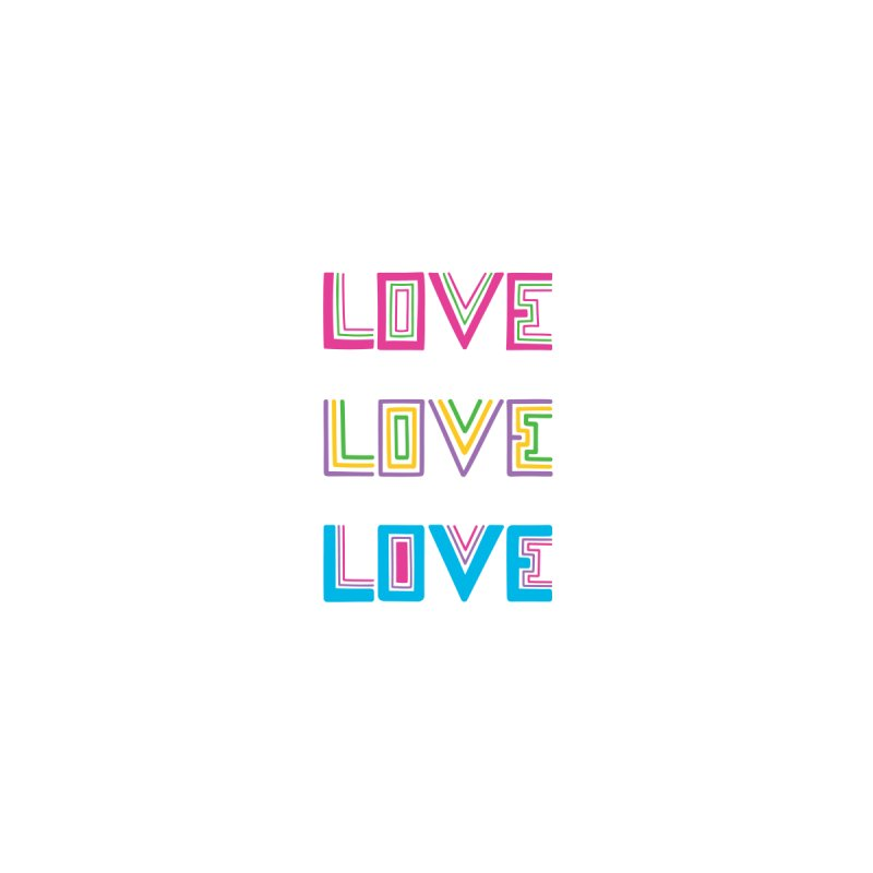 LOVE LOVE LOVE Home Stretched Canvas by muddyum's artist shop