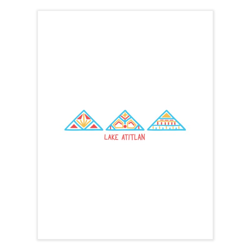 Lake Atitlan - Electric Blue Home Fine Art Print by muddyum's artist shop