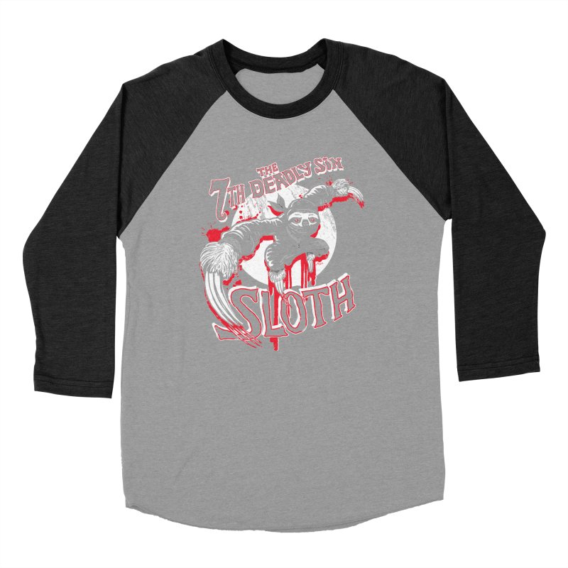 Sloth The 7th Deadly Sin Women's Baseball Triblend Longsleeve T-Shirt by Mudge Studios