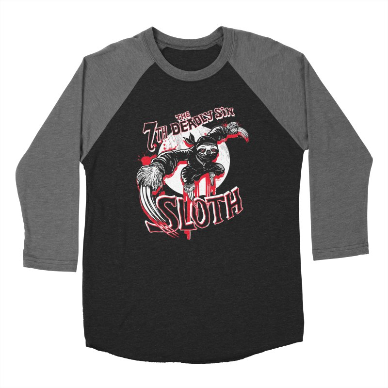 Sloth The 7th Deadly Sin Men's Baseball Triblend Longsleeve T-Shirt by Mudge Studios