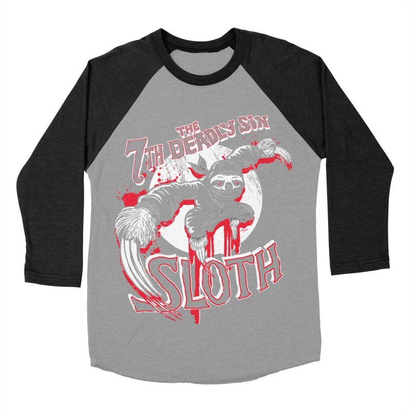 Sloth The 7th Deadly Sin Women's Baseball Triblend Longsleeve T-Shirt by Mudge Studios