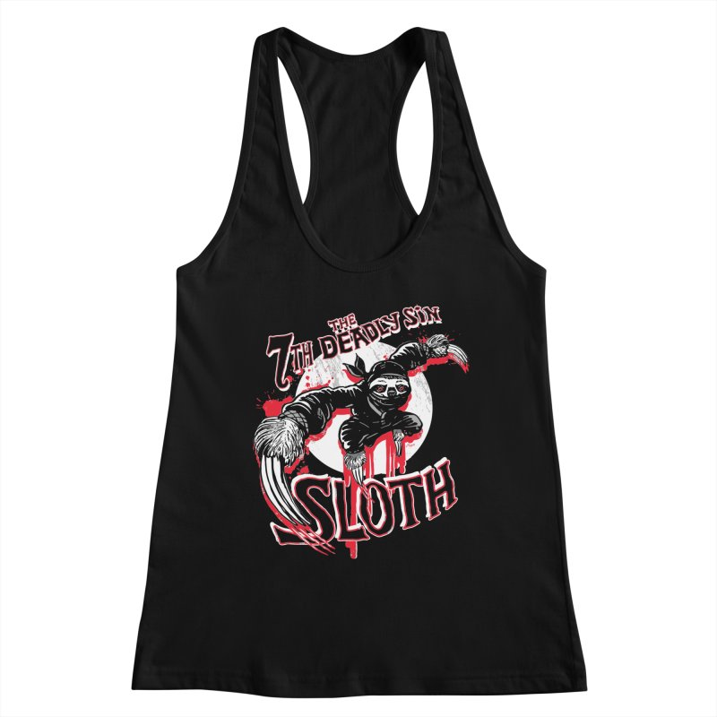 Sloth The 7th Deadly Sin Women's Racerback Tank by Mudge Studios