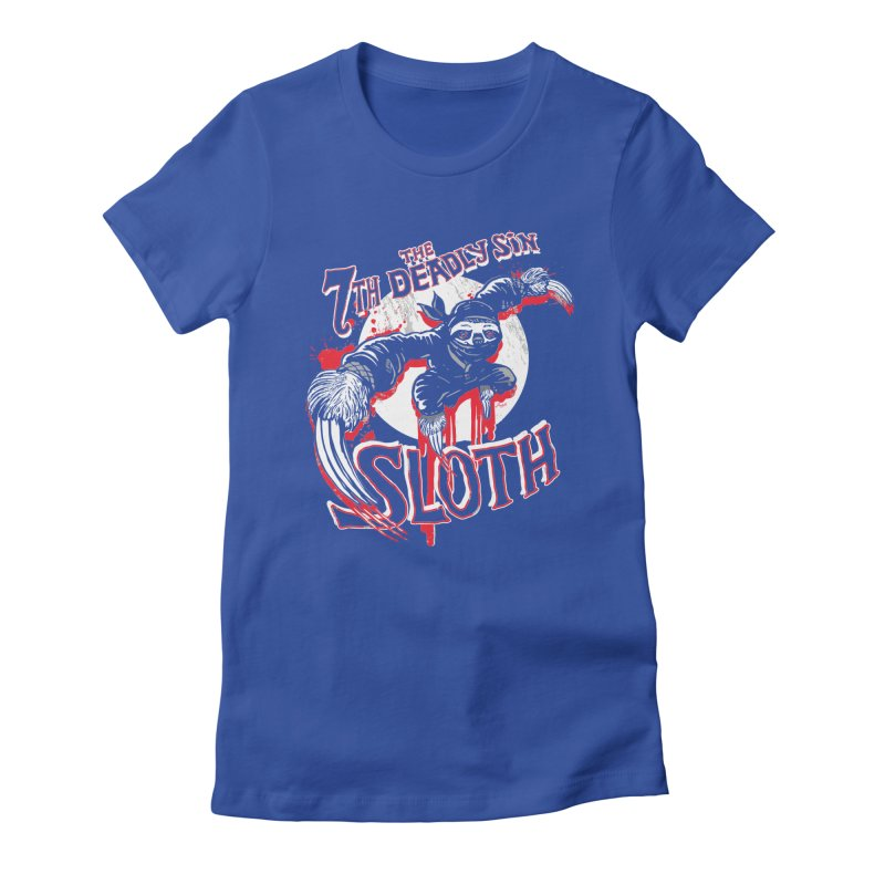 Sloth The 7th Deadly Sin Women's Fitted T-Shirt by Mudge Studios