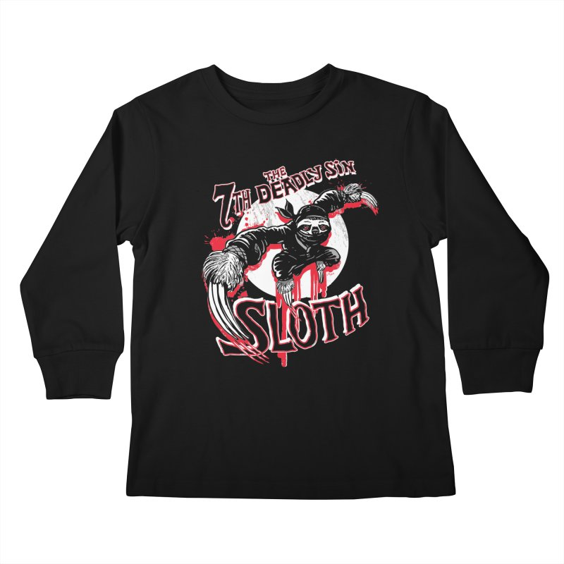 Sloth The 7th Deadly Sin Kids Longsleeve T-Shirt by Mudge Studios