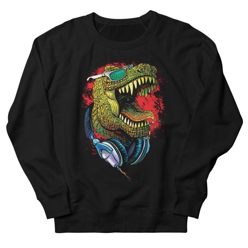 T Rex Chillin' With Shades and Headphones Women's Sweatshirt by Mudge Studios