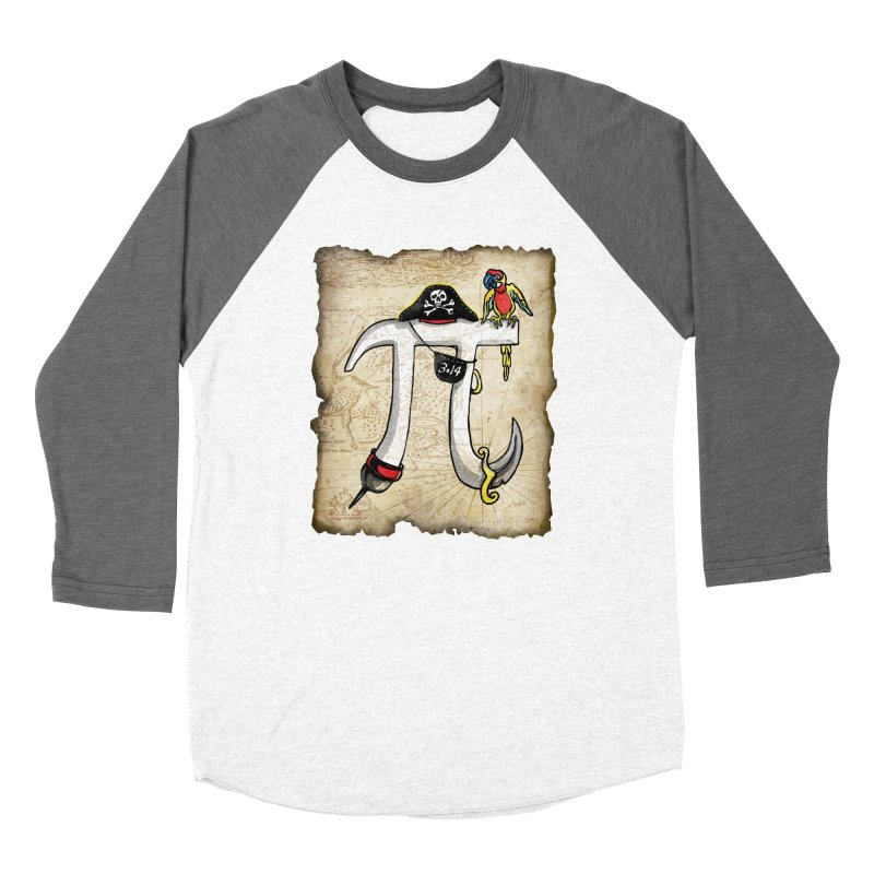 Pirate Pi Day Women's Baseball Triblend Longsleeve T-Shirt by Mudge Studios