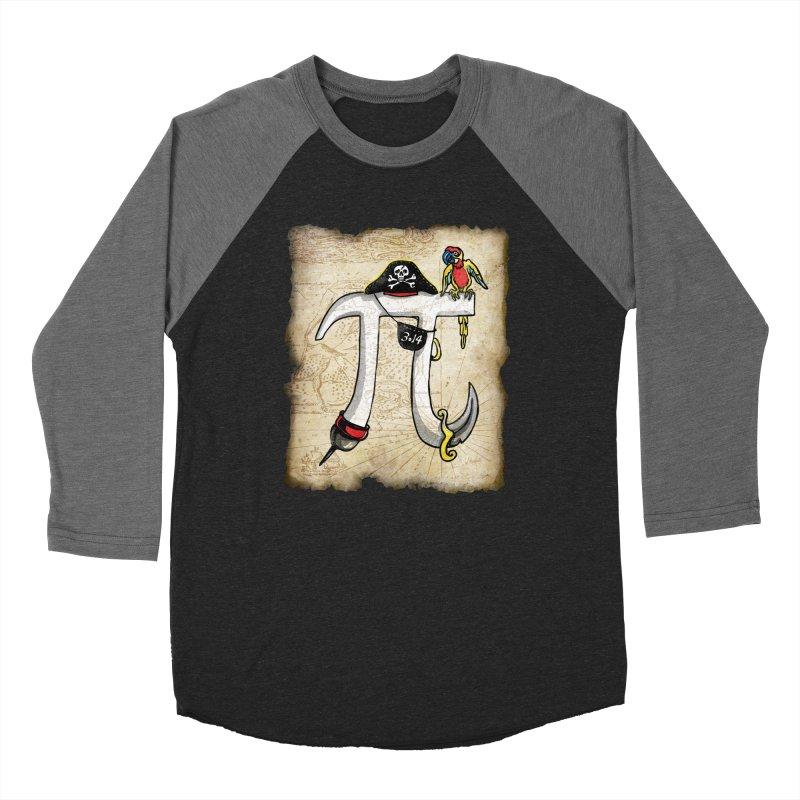Pirate Pi Day Men's Baseball Triblend Longsleeve T-Shirt by Mudge Studios
