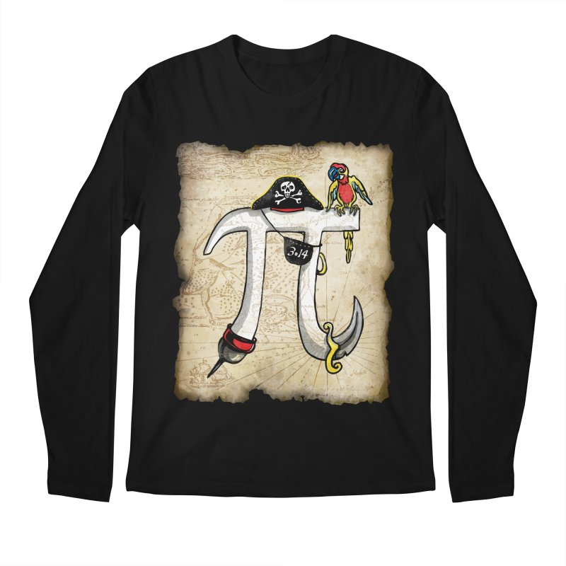 Pirate Pi Day Men's Longsleeve T-Shirt by Mudge Studios