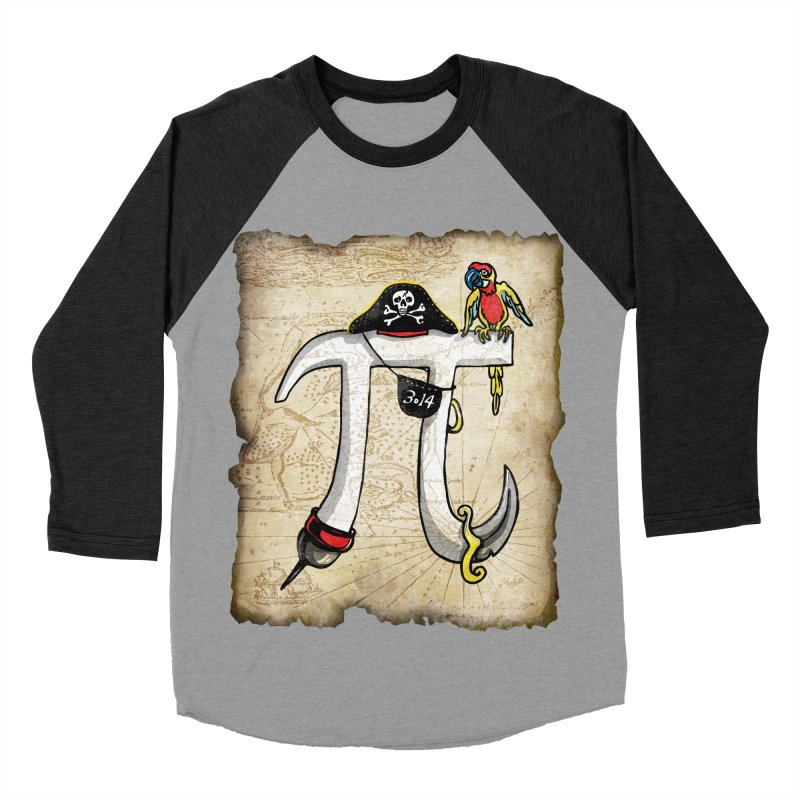 Pirate Pi Day Women's Baseball Triblend Longsleeve T-Shirt by Mudge Studios