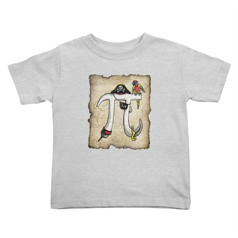 Pirate Pi Day Kids Toddler T-Shirt by Mudge Studios