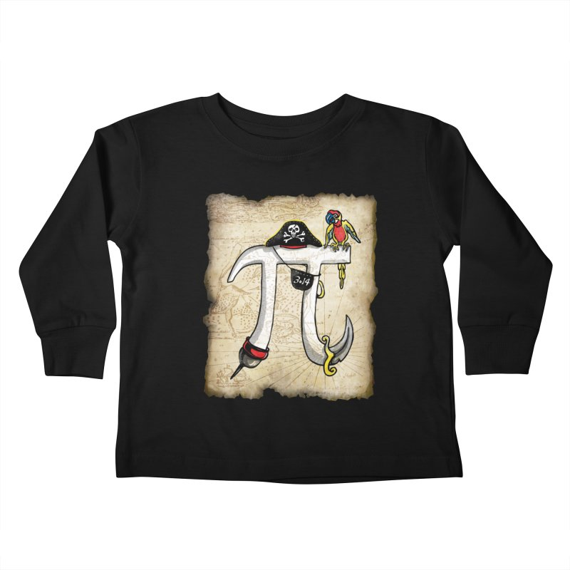 Pirate Pi Day Kids Toddler Longsleeve T-Shirt by Mudge Studios