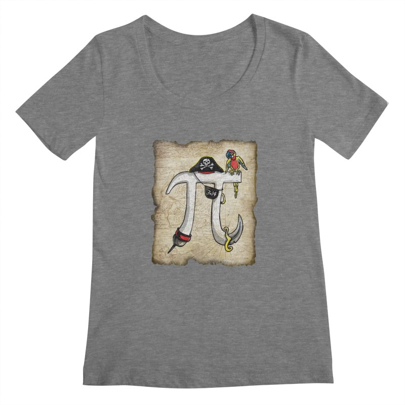 Pirate Pi Day Women's Scoopneck by Mudge Studios