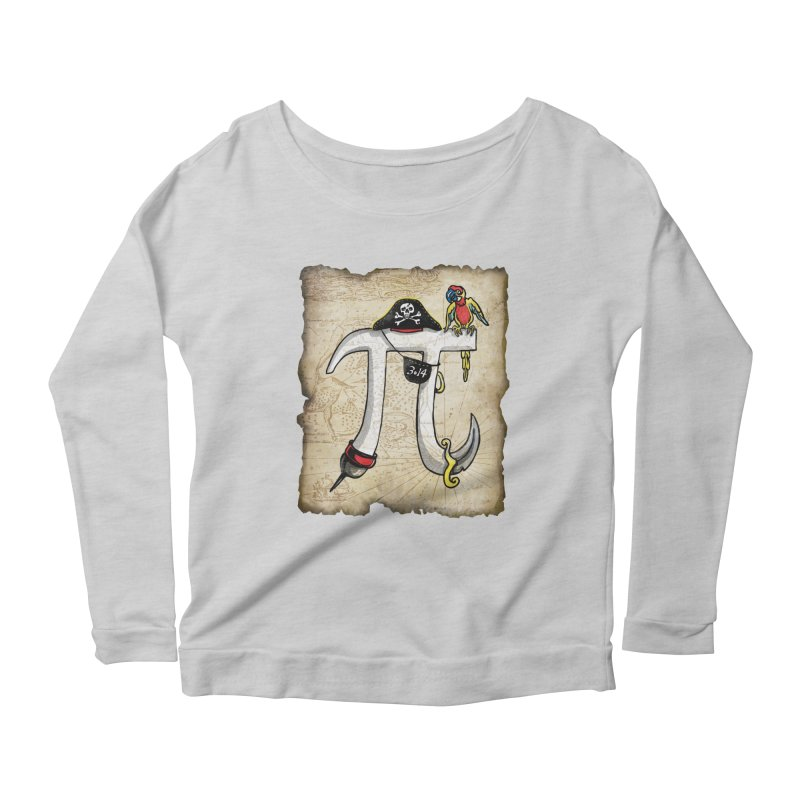 Pirate Pi Day Women's Scoop Neck Longsleeve T-Shirt by Mudge Studios