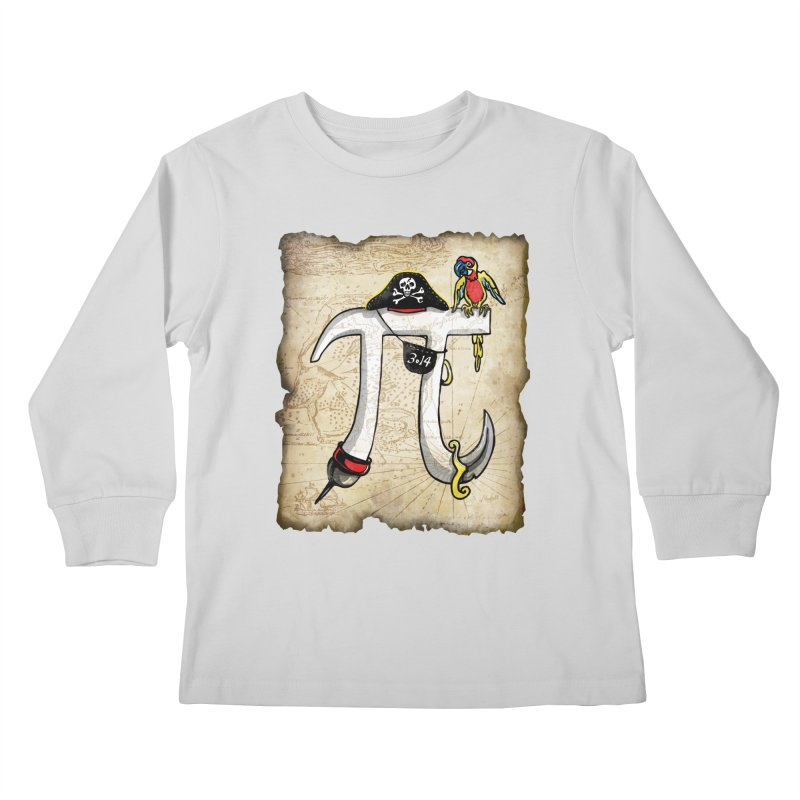 Pirate Pi Day Kids Longsleeve T-Shirt by Mudge Studios