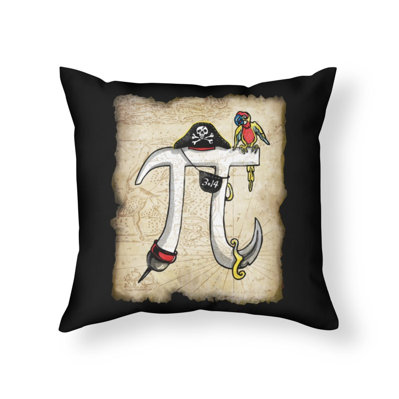 Pirate Pi Day Home Throw Pillow by Mudge Studios