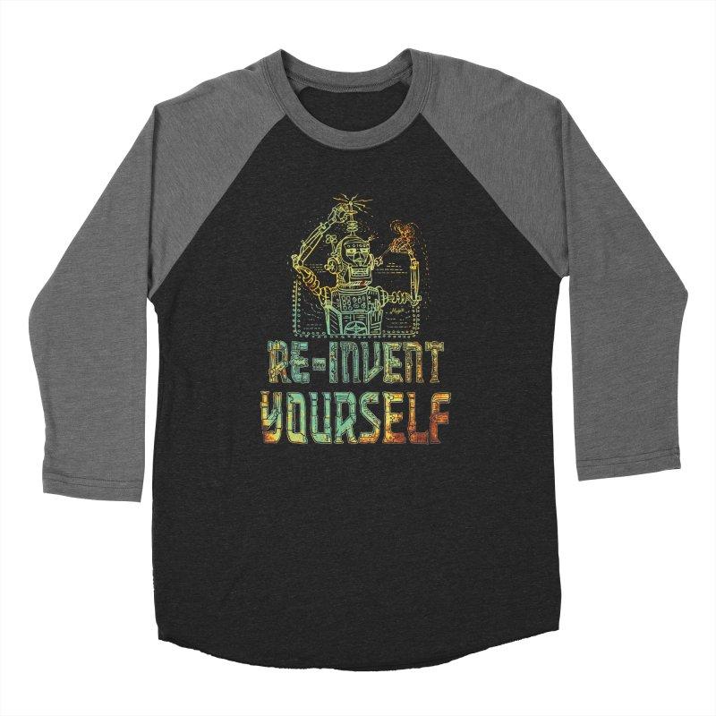 Re-Invent Yourself Robot Men's Baseball Triblend Longsleeve T-Shirt by Mudge Studios