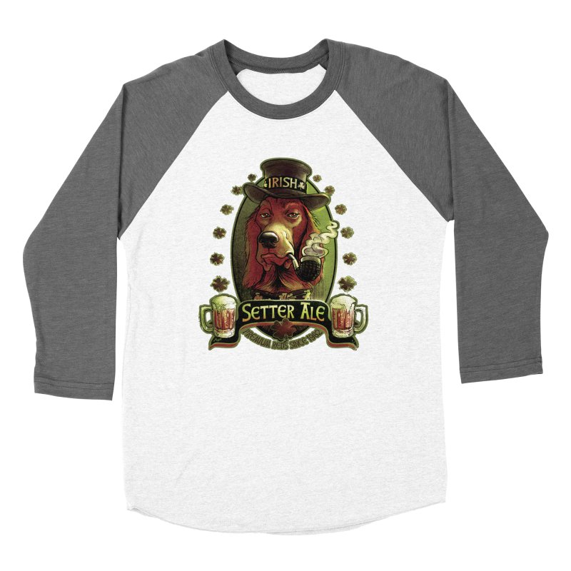 Irish Setter Red Ale Men's Baseball Triblend Longsleeve T-Shirt by Mudge Studios