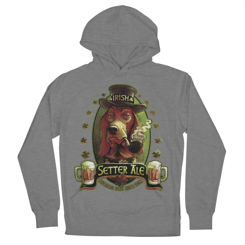 Irish Setter Red Ale Women's French Terry Pullover Hoody by Mudge Studios