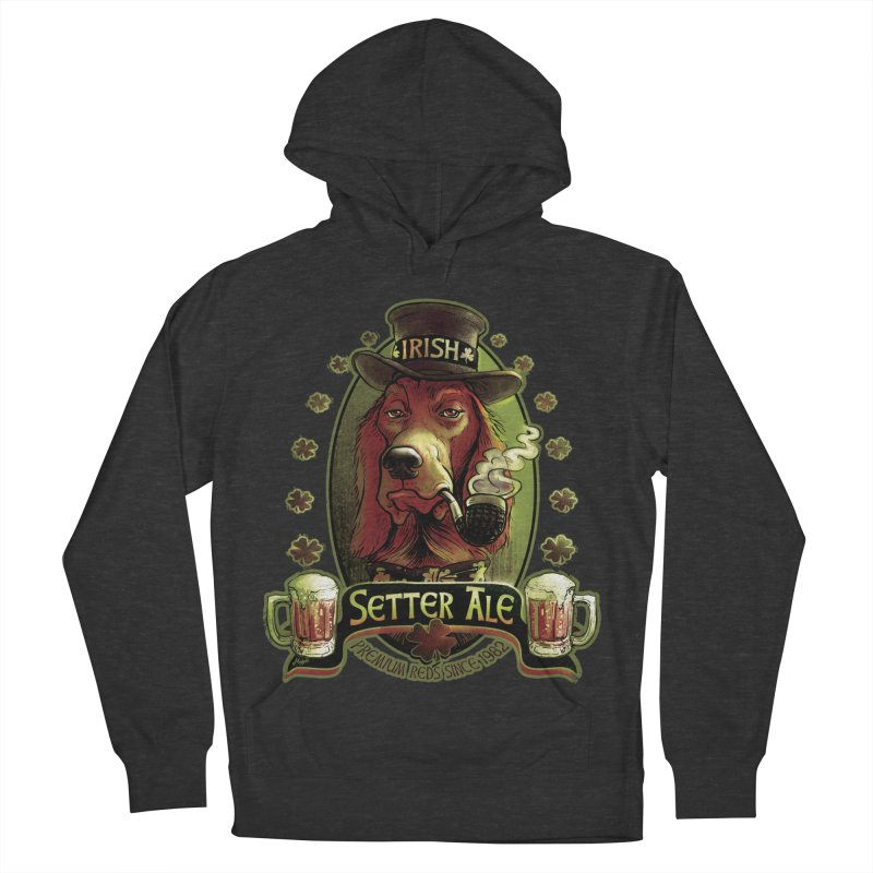 Irish Setter Red Ale Men's French Terry Pullover Hoody by Mudge Studios