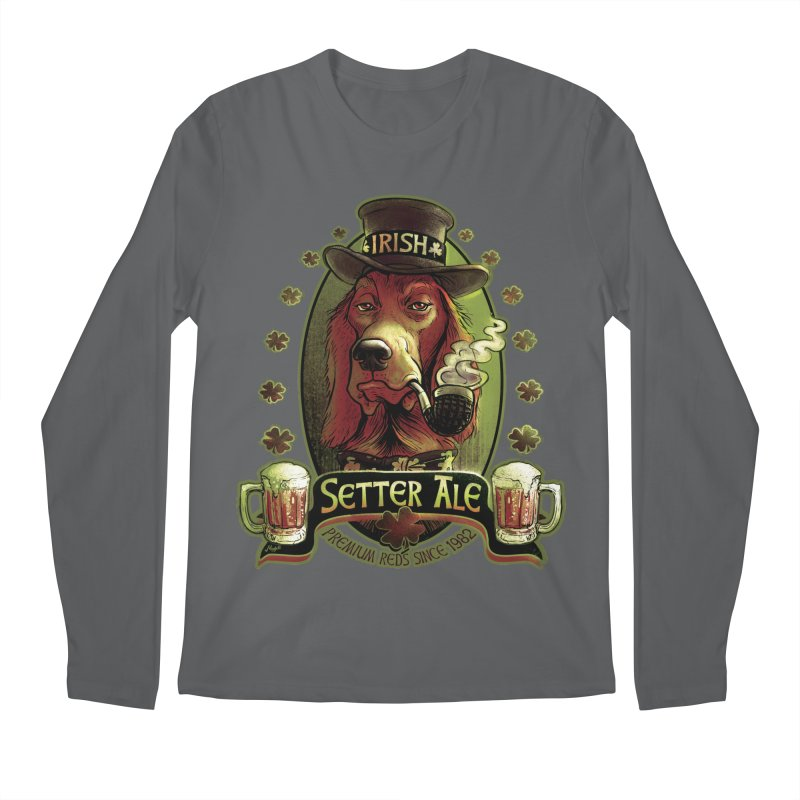 Irish Setter Red Ale Men's Longsleeve T-Shirt by Mudge Studios