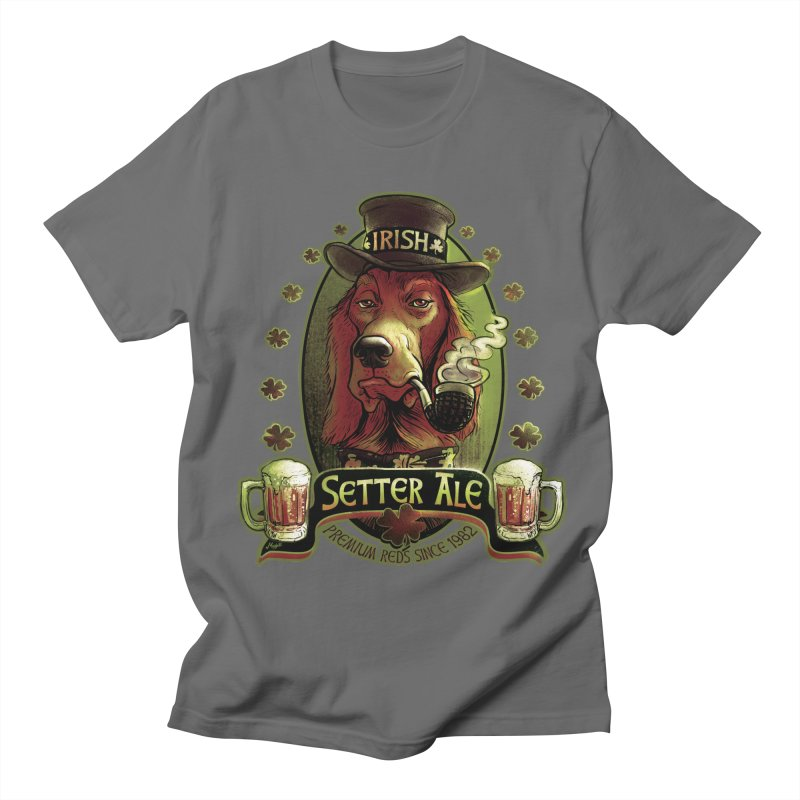 Irish Setter Red Ale Men's Regular T-Shirt by Mudge Studios