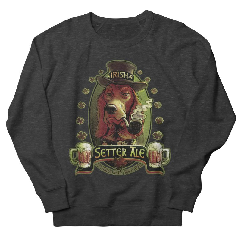 Irish Setter Red Ale Men's French Terry Sweatshirt by Mudge Studios