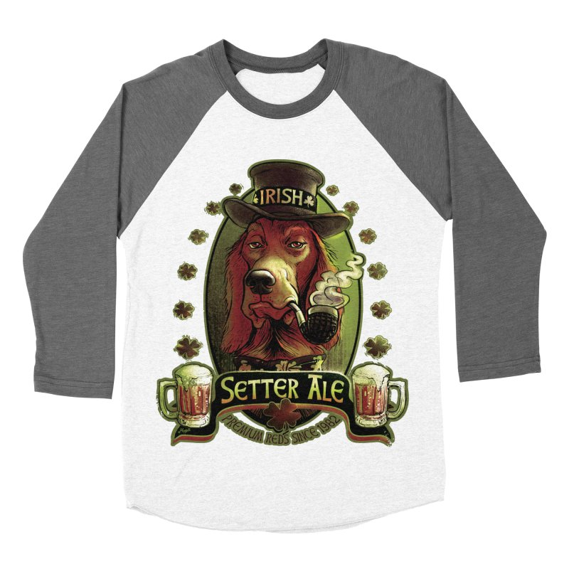 Irish Setter Red Ale Men's Baseball Triblend T-Shirt by Mudge Studios