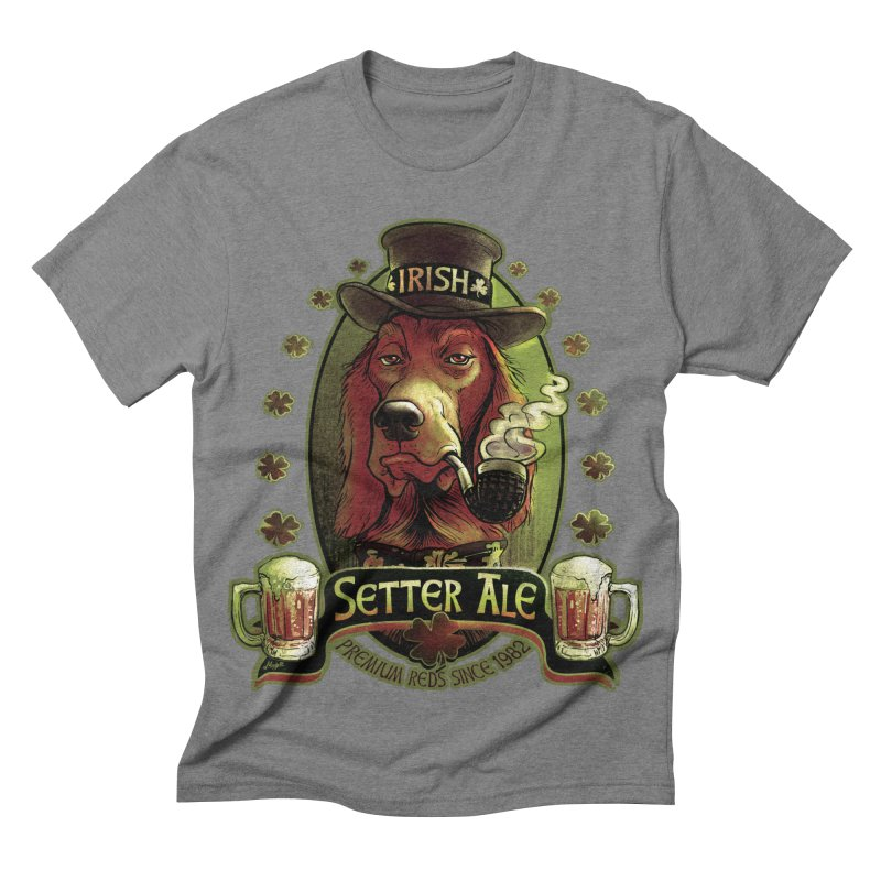 Irish Setter Red Ale Men's Triblend T-shirt by Mudge Studios