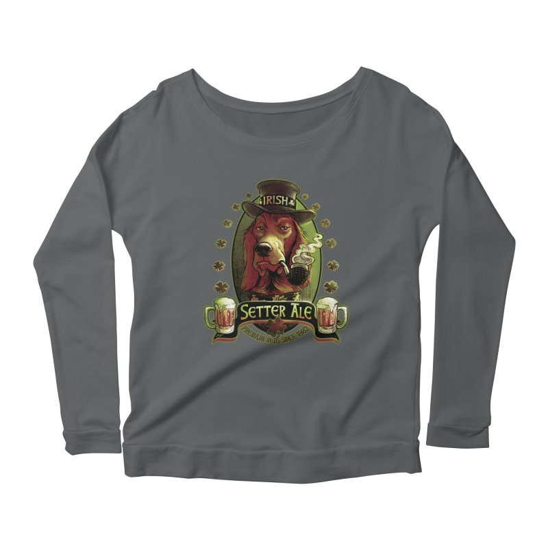 Irish Setter Red Ale Women's Scoop Neck Longsleeve T-Shirt by Mudge Studios