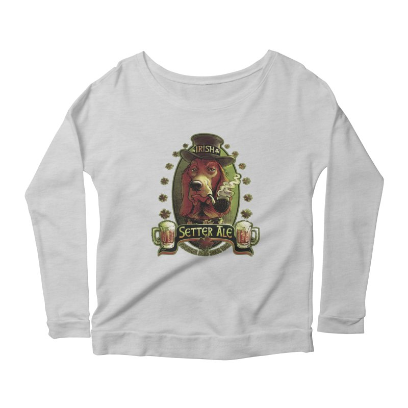 Irish Setter Red Ale Women's Longsleeve Scoopneck  by Mudge Studios
