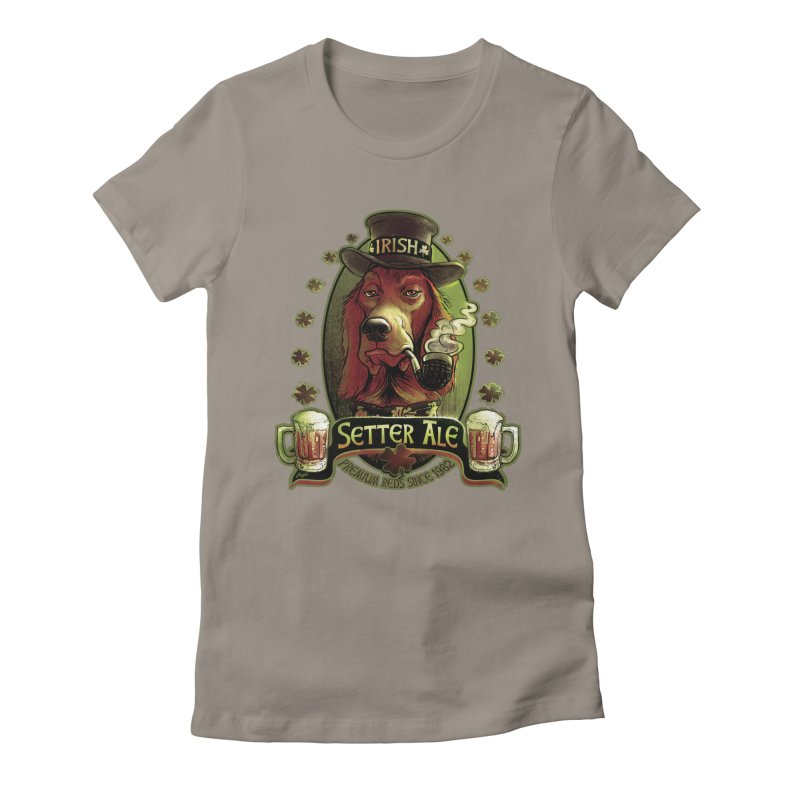 Irish Setter Red Ale Women's Fitted T-Shirt by Mudge Studios