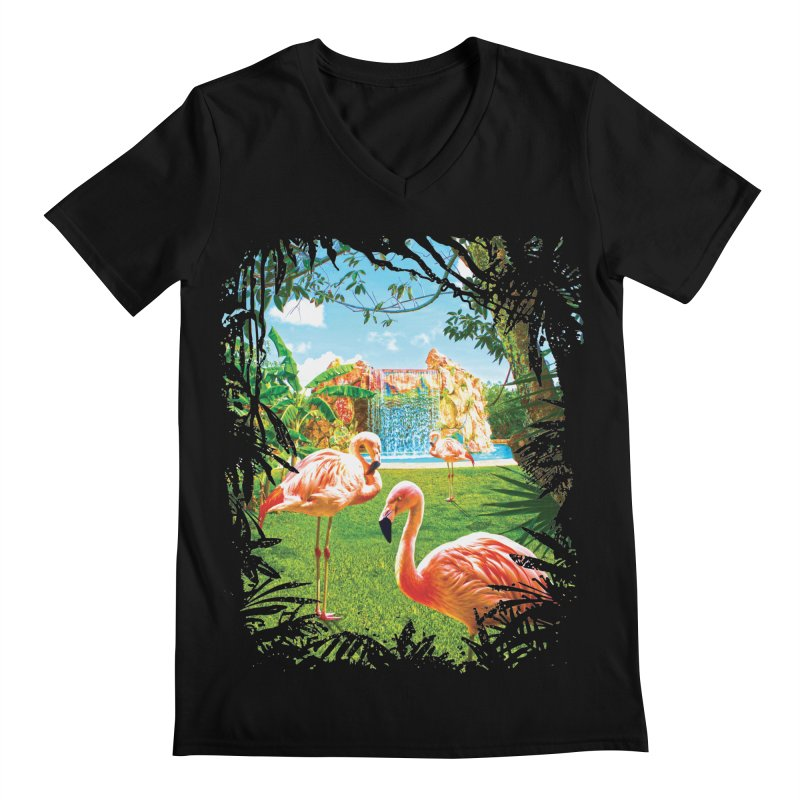 Pink Flamingo Paradise    by Mudge Studios