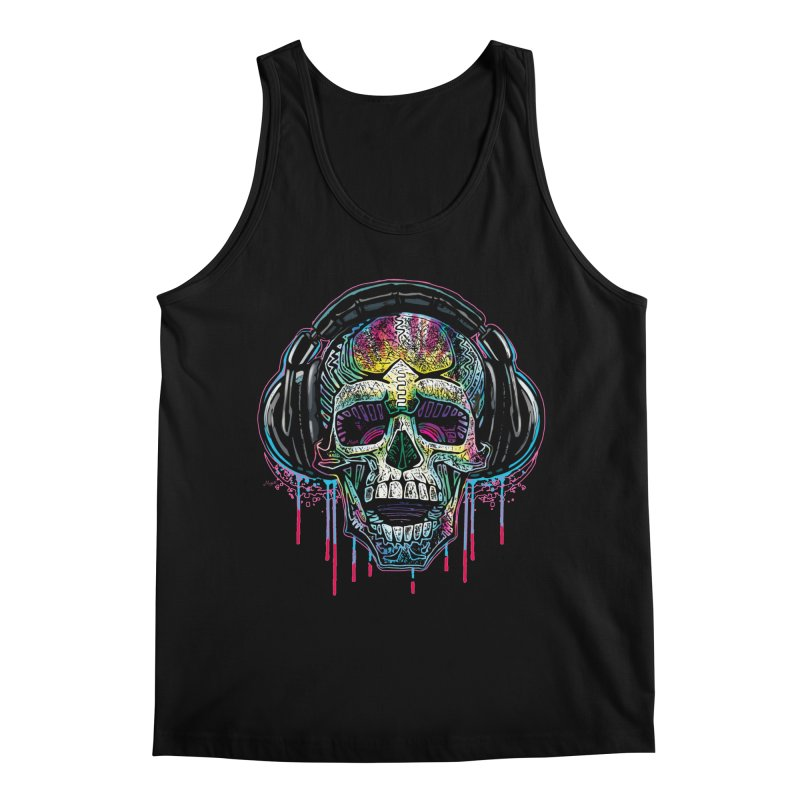 YODO Skull Beats Men's Regular Tank by Mudge Studios