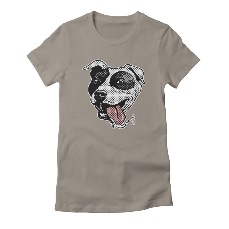 Lovable Pit Bull Slobber Women's French Terry Zip-Up Hoody by Mudge Studios