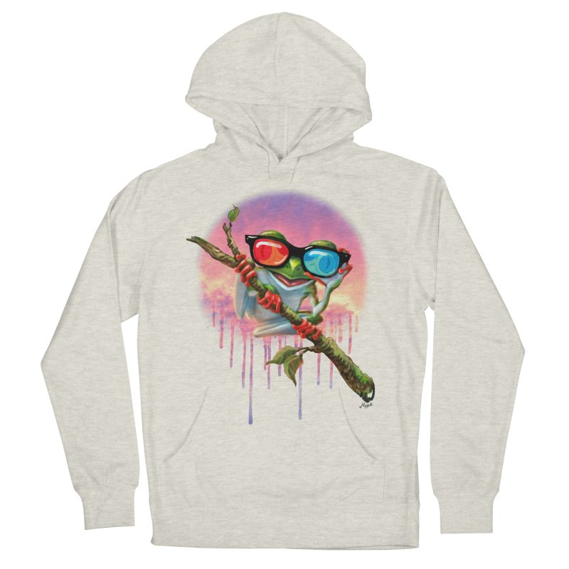 3D Tree Frog Women's French Terry Pullover Hoody by Mudge Studios