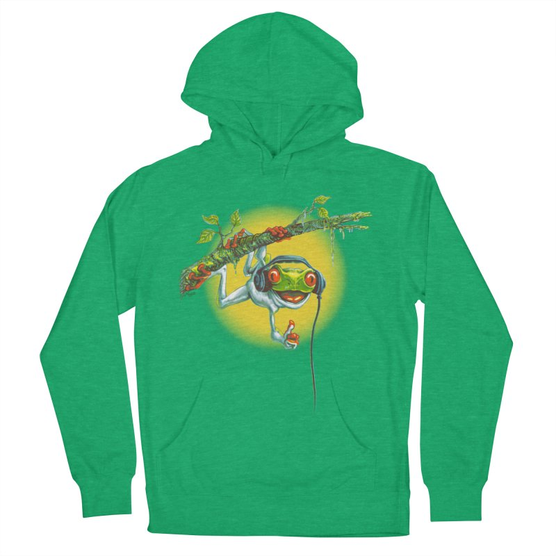 Tree Frog Hangin' Out Women's Pullover Hoody by Mudge Studios