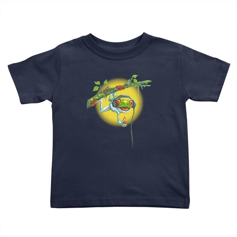 Tree Frog Hangin' Out Kids Toddler T-Shirt by Mudge Studios