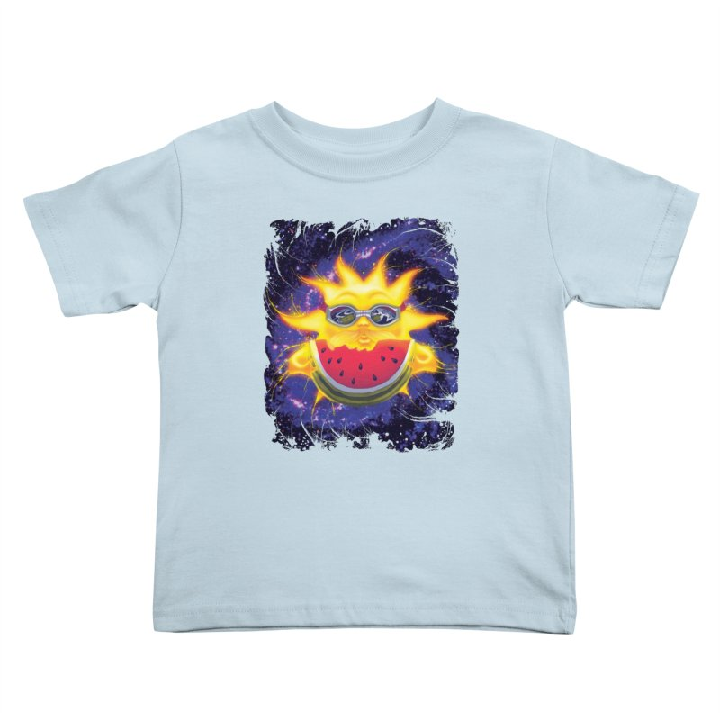 Solar Sun Melon Kids Toddler T-Shirt by Mudge Studios