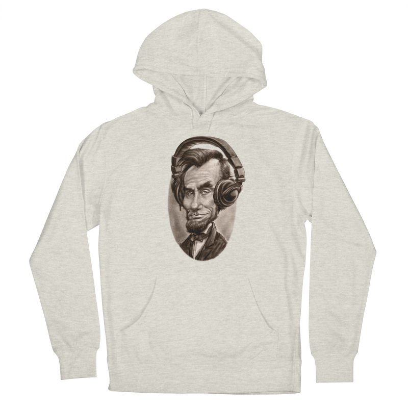 Honest Abe Chillin' With Headphones Women's French Terry Pullover Hoody by Mudge Studios