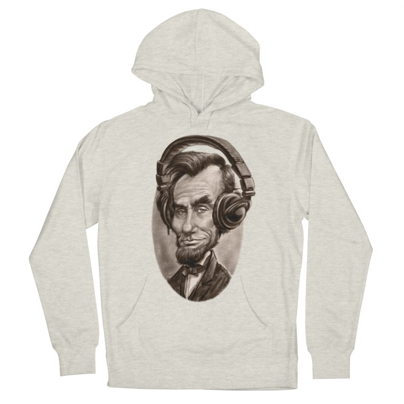 Honest Abe Chillin' With Headphones Men's Pullover Hoody by Mudge Studios