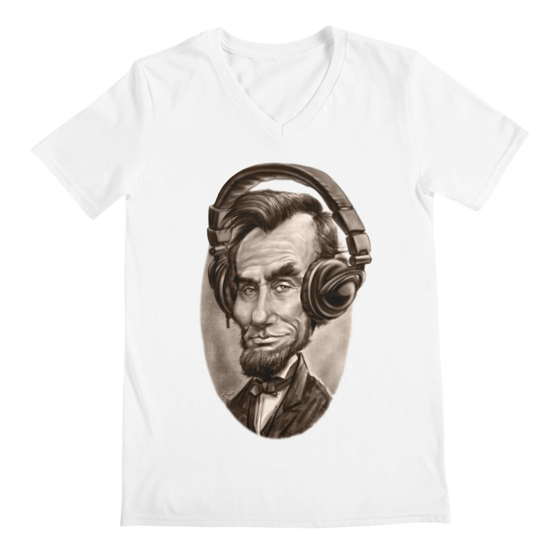 Honest Abe Chillin' With Headphones   by Mudge Studios