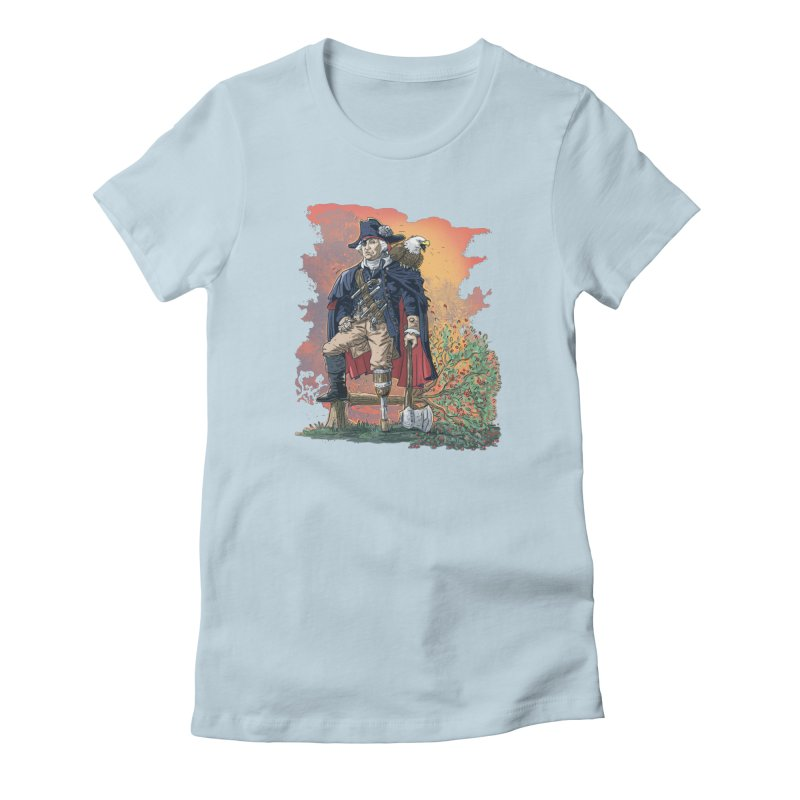 George Washington Founding Pirate Father Women's French Terry Zip-Up Hoody by Mudge Studios