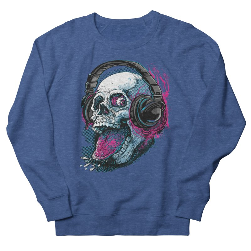 Skull Raspberry With Headphones Women's Sweatshirt by Mudge Studios