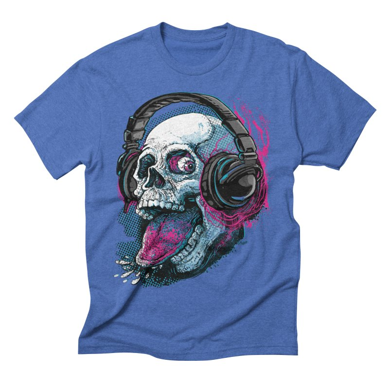 Skull Raspberry With Headphones   by Mudge Studios